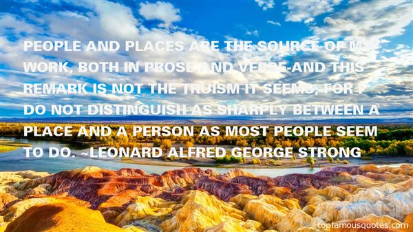Leonard Alfred George Strong Quotes