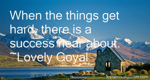 Lovely Goyal Quotes