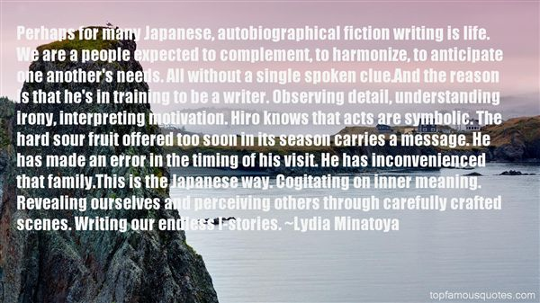 Lydia Minatoya Quotes