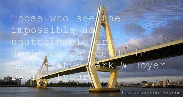 Mark W Boyer Devlyn Lycurg Quotes
