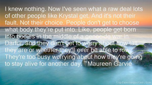 Maureen Garvie Quotes