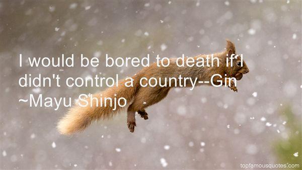 Mayu Shinjo Quotes