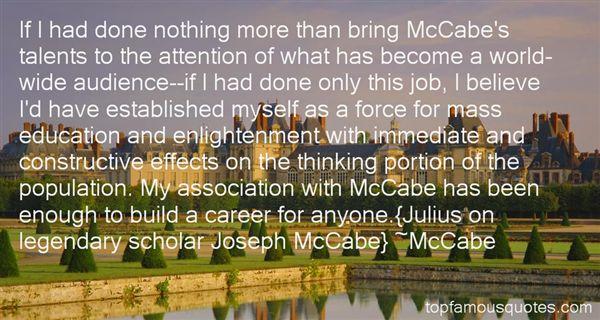 McCabe Quotes