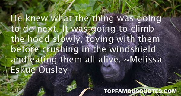 Melissa Eskue Ousley Quotes