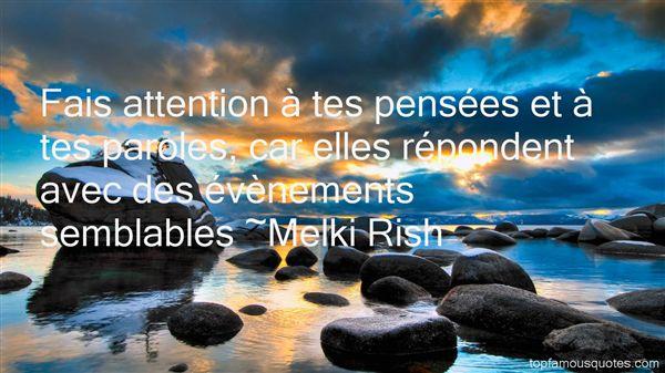 Melki Rish Quotes