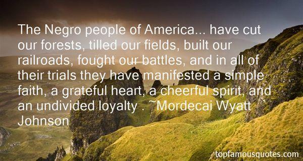 Mordecai Wyatt Johnson Quotes