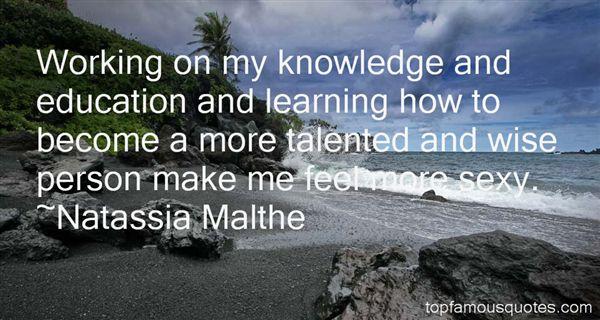 Natassia Malthe Quotes