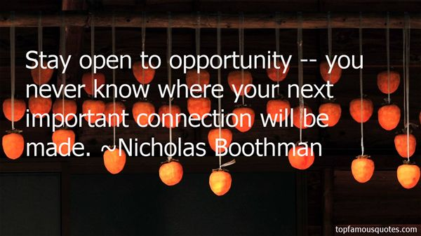 Nicholas Boothman Quotes