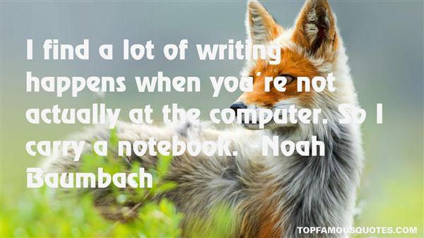 Noah Baumbach Quotes