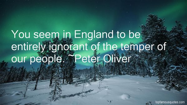 Peter Oliver Quotes