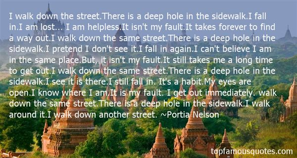 Portia Nelson Quotes