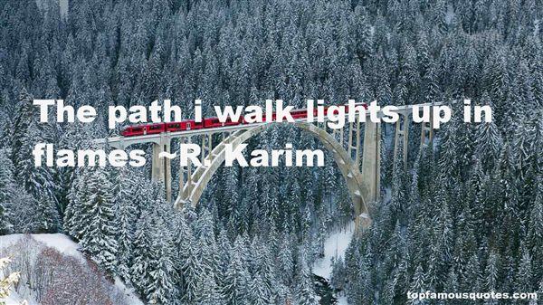 R. Karim Quotes
