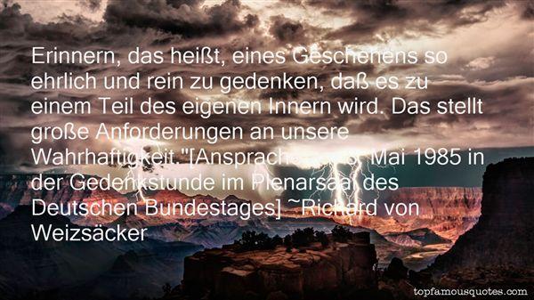 Richard Von Weizsäcker Quotes