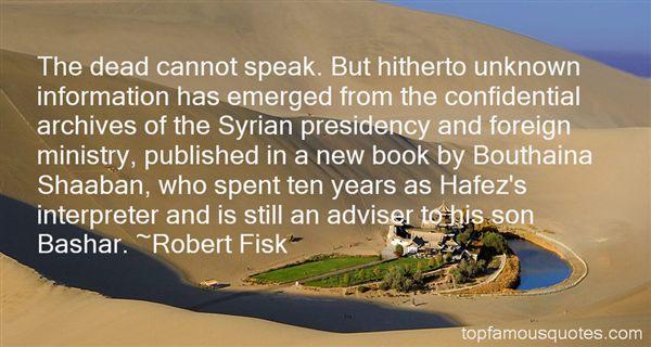 Robert Fisk Quotes