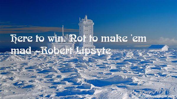 Robert Lipsyte Quotes