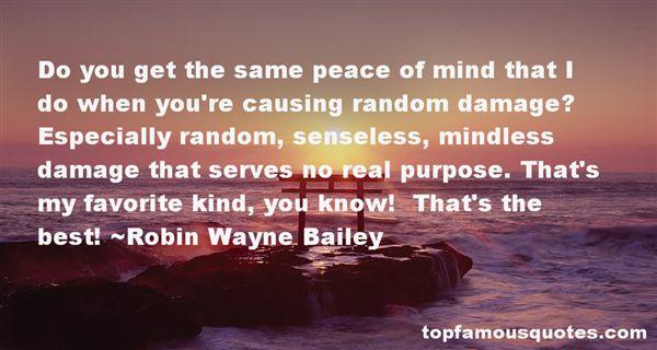 Robin Wayne Bailey Quotes
