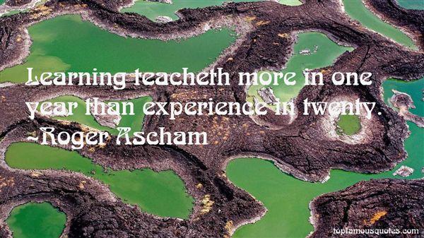 Roger Ascham Quotes