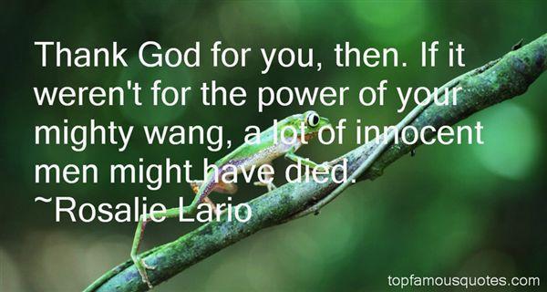 Rosalie Lario Quotes