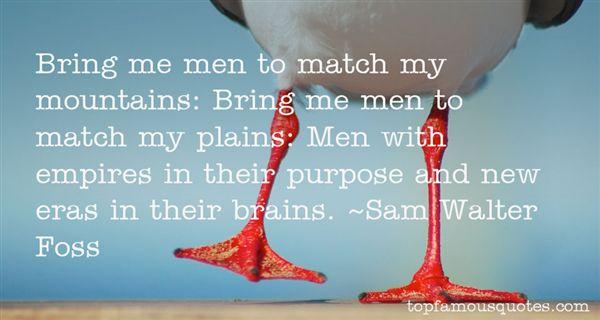 Sam Walter Foss Quotes