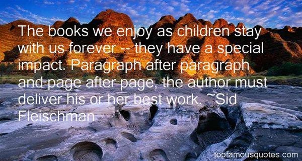 Sid Fleischman Quotes