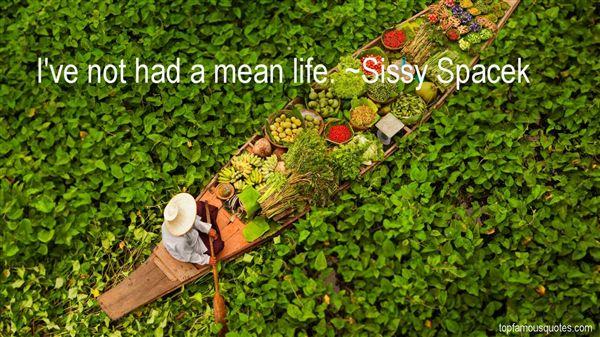 Sissy Spacek Quotes
