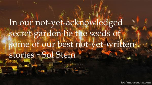 Sol Stein Quotes