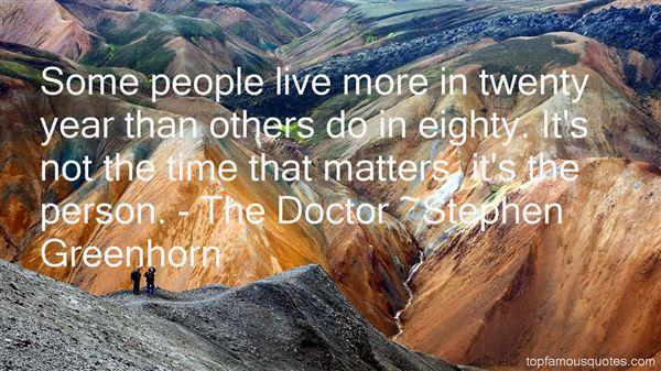 Stephen Greenhorn Quotes