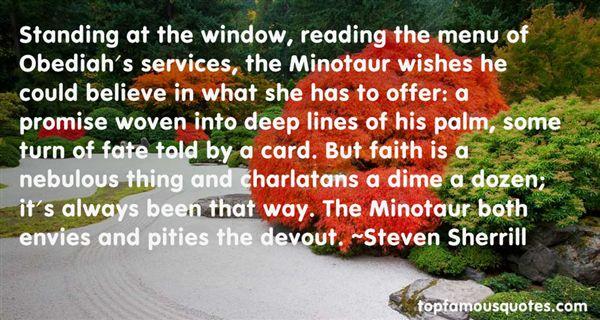 Steven Sherrill Quotes