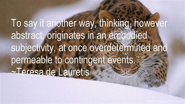 Teresa De Lauretis Quotes