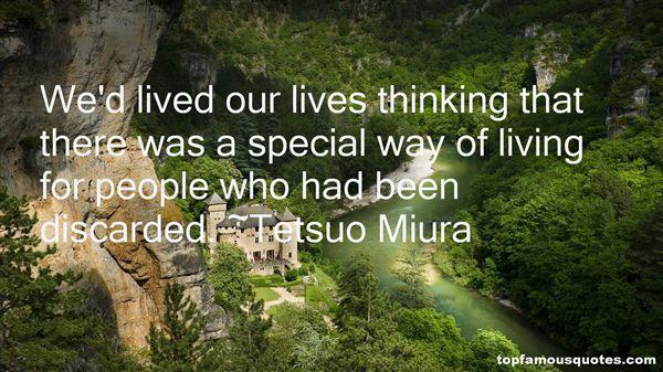 Tetsuo Miura Quotes