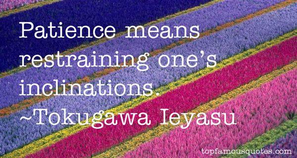 Tokugawa Ieyasu Quotes
