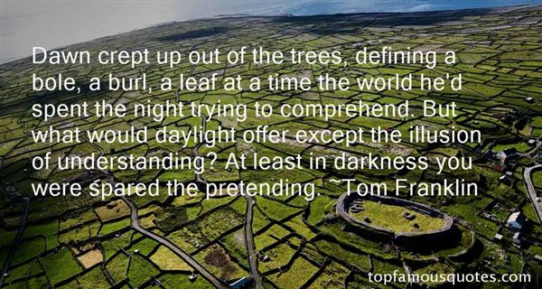 Tom Franklin Quotes