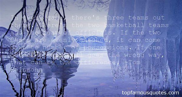 Tom Heinsohn Quotes