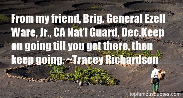 Tracey Richardson Quotes