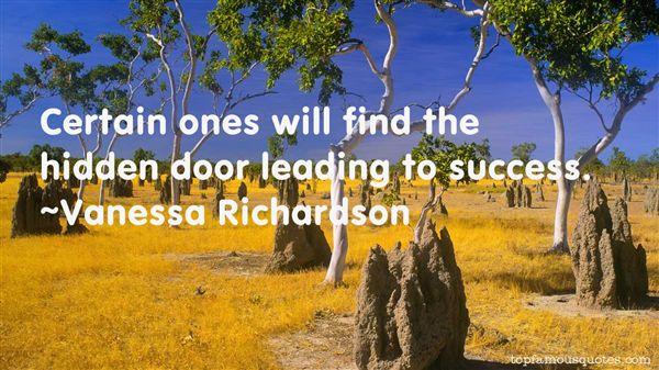 Vanessa Richardson Quotes