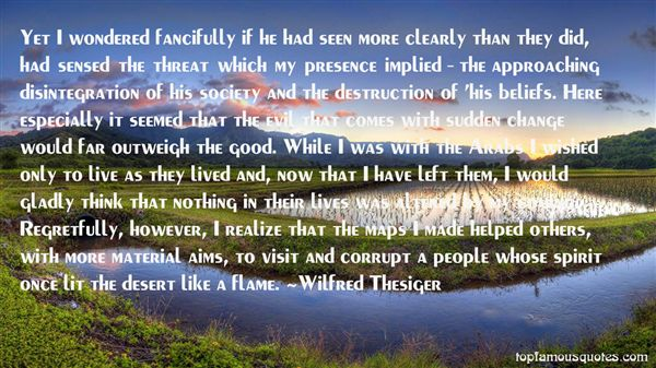 Wilfred Thesiger Quotes