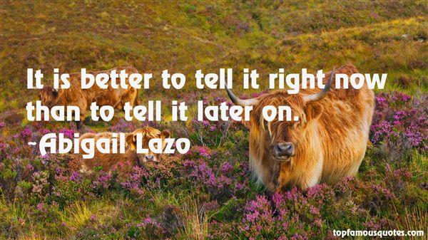 Abigail Lazo Quotes