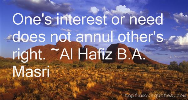 Al Hafiz B.A. Masri Quotes