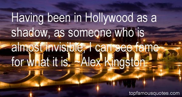 Alex Kingston Quotes