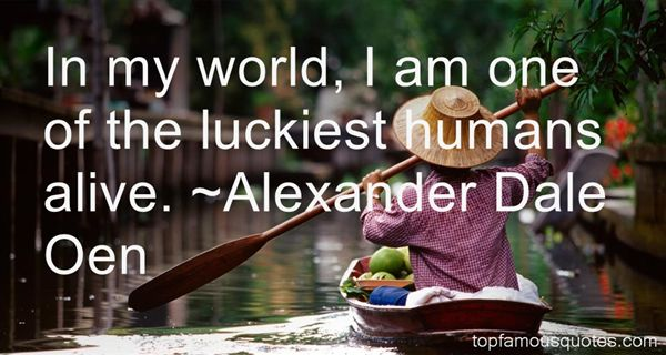 Alexander Dale Oen Quotes