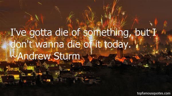 Andrew Sturm Quotes