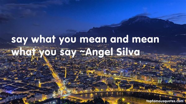Angel Silva Quotes