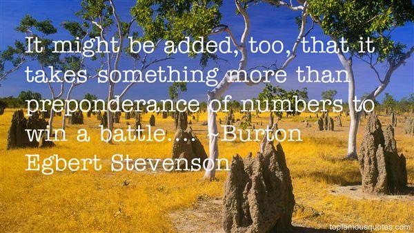 Burton Egbert Stevenson Quotes
