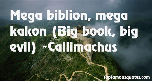 Callimachus Quotes