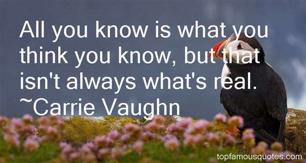 Carrie Vaughn Quotes