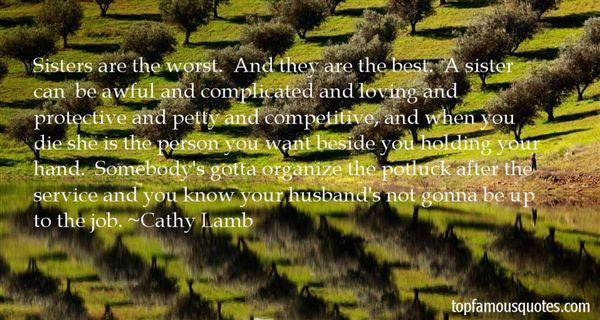 Cathy Lamb Quotes