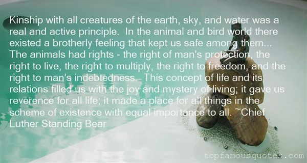 Chief Luther Standing Bear Quotes
