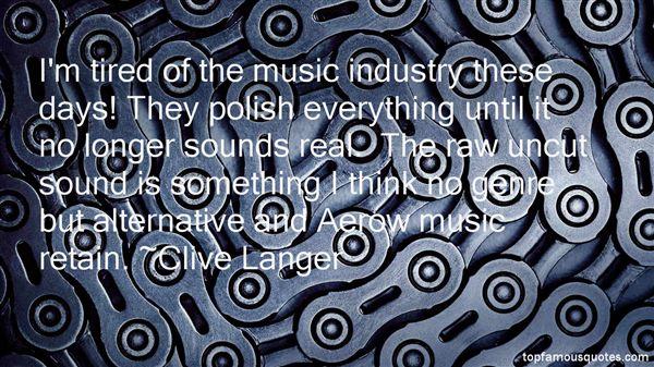 Clive Langer Quotes