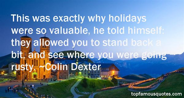 Colin Dexter Quotes