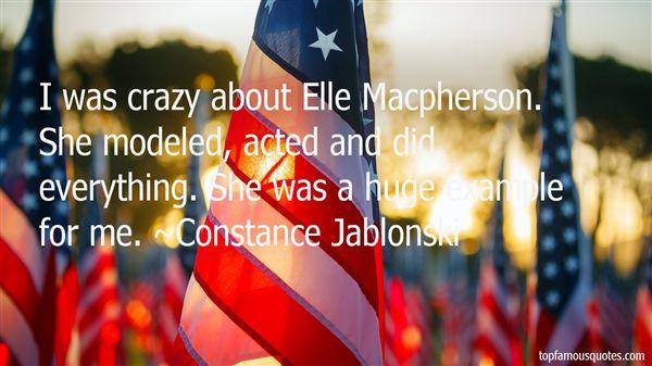 Constance Jablonski Quotes